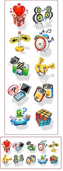 爱心电话闹钟icon设计