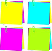 彩色便签纸矢量图