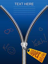 创意拉链广告设计和吊牌