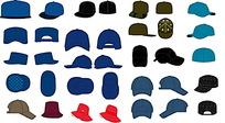 各种矢量VI模板帽子
