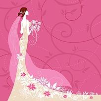 卡通新娘矢量素材