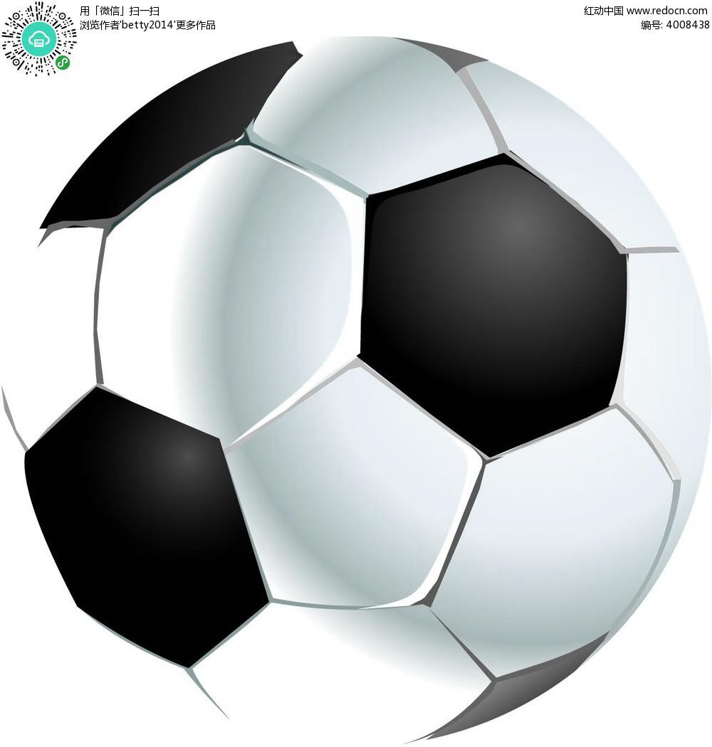 手绘六边形纹理足球
