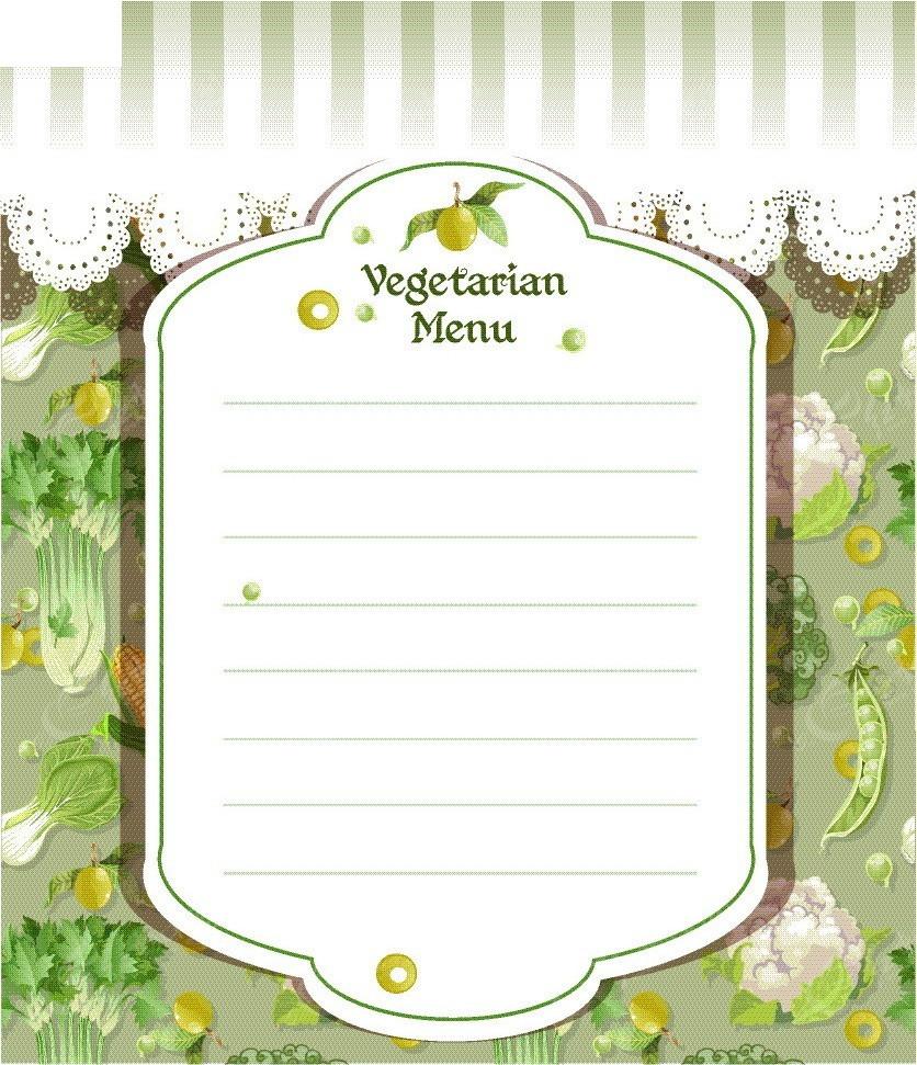 免费素材 矢量素材 花纹边框 底纹背景 蔬菜图案菜单封面矢量背景  请