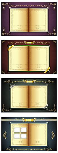 素雅古典证书花纹