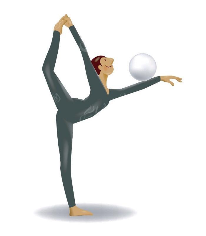 瑜伽运动手绘人物画