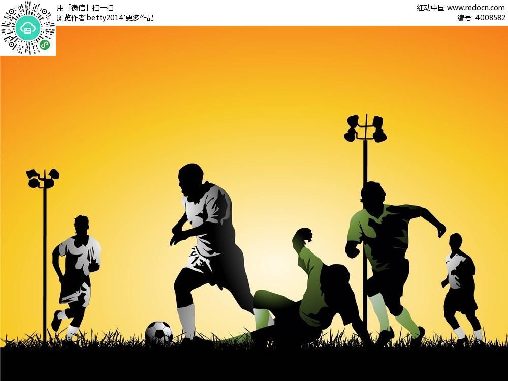足球运动员手绘插画