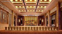 酒店会议大厅效果图max