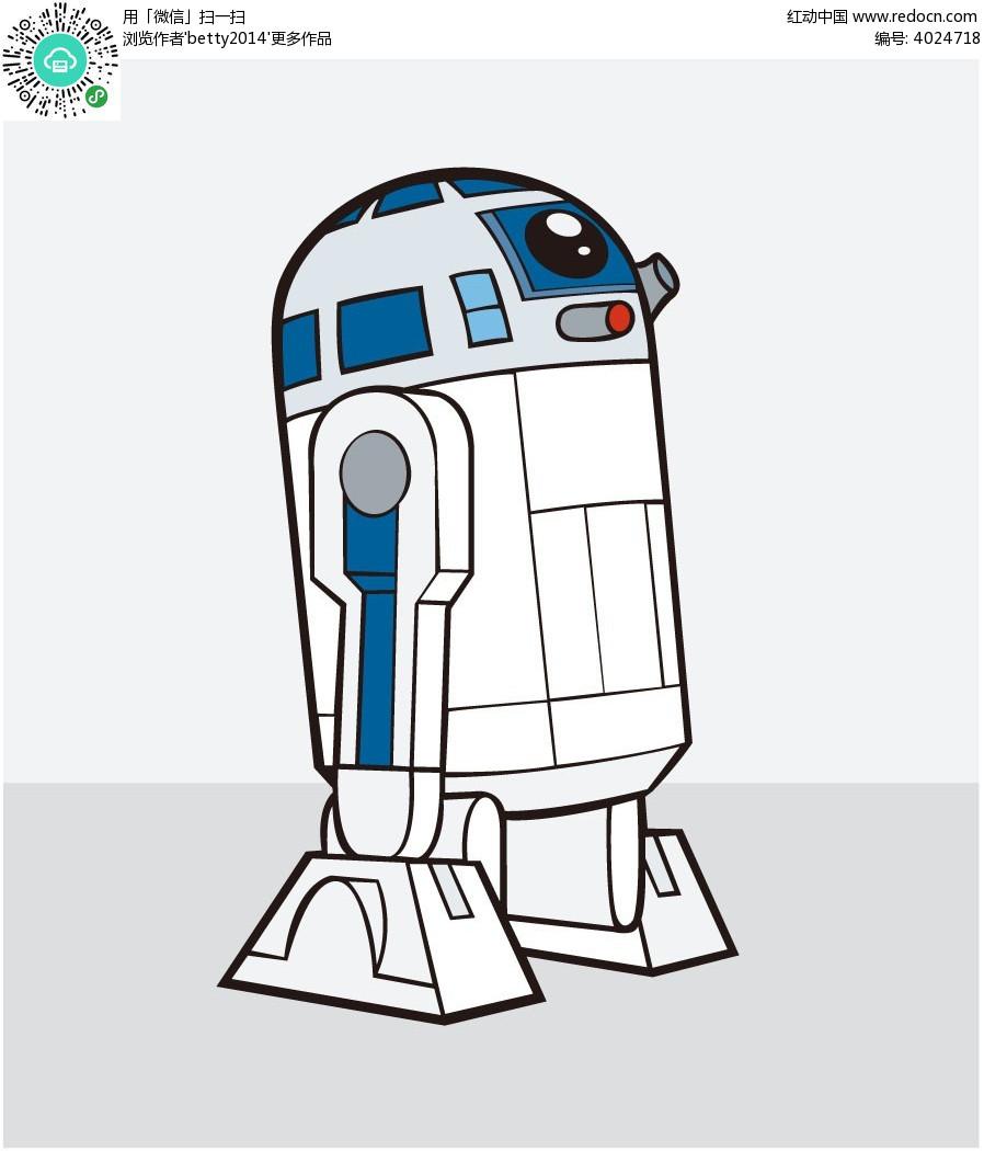 白色机器人插画EPS素材免费下载 编号4024718 红动网