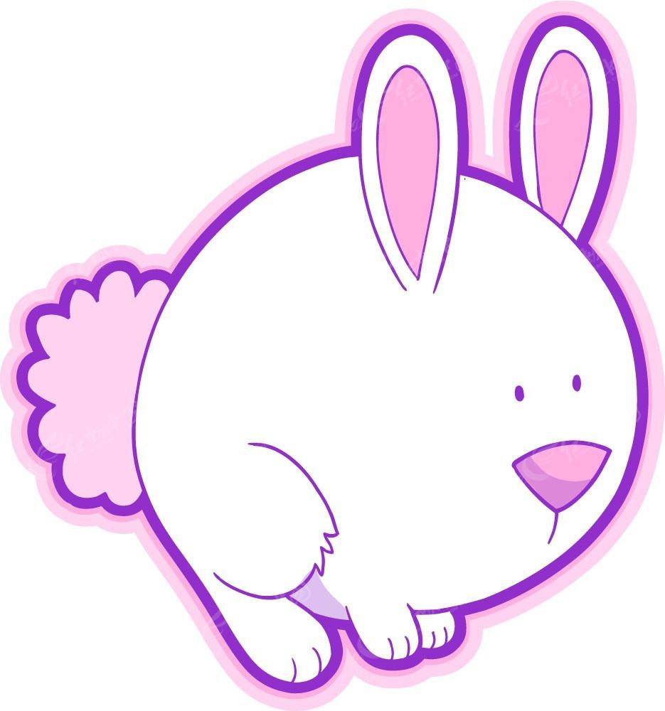 粉红色作文韩国兔子插画动物有趣的长颈鹿的矢量四百字图片