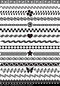 黑白简洁花边边框
