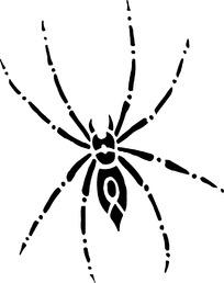 黑色线描蜘蛛漫画
