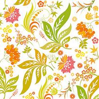 花纹树叶背景图案