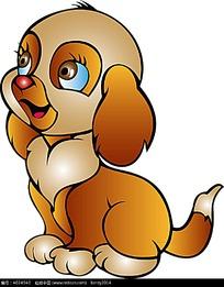 卡通漂亮的小狗插画