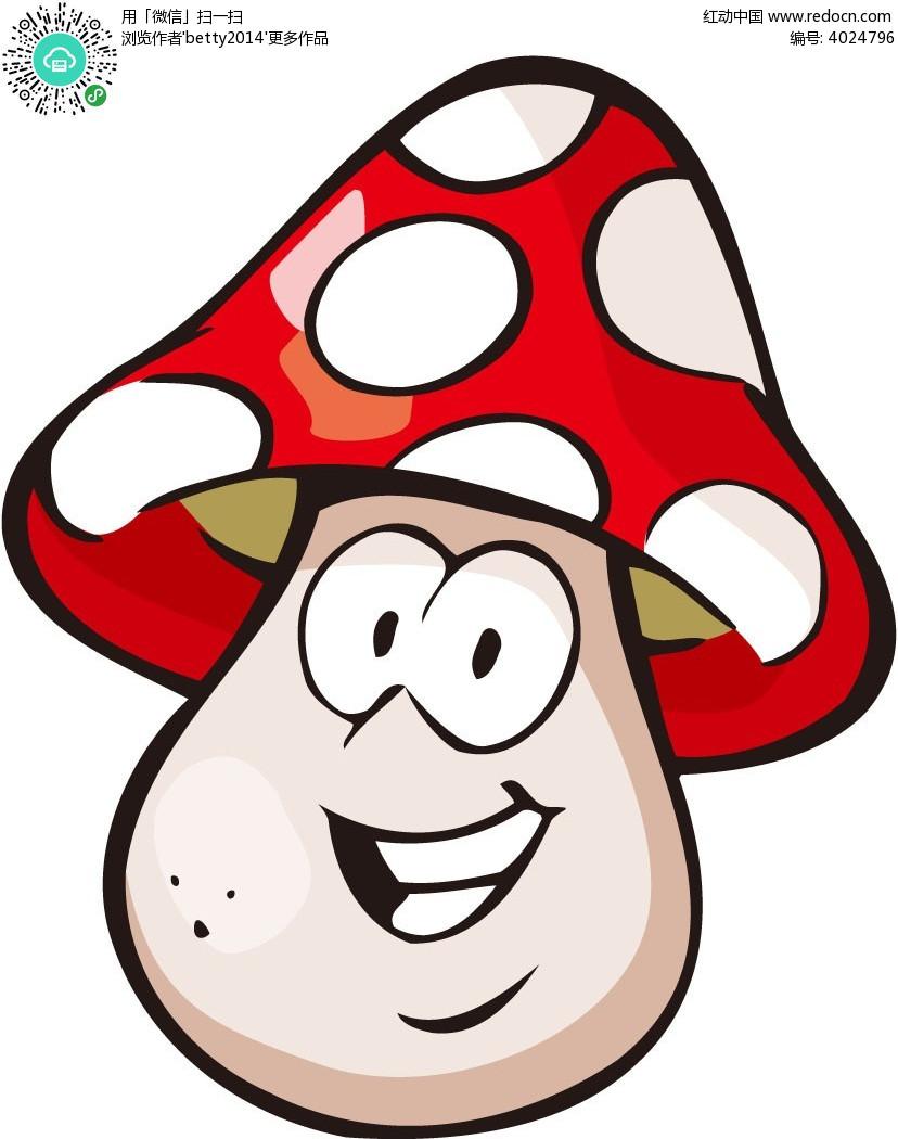 拟人小蘑菇韩国动物插画EPS素材免费下载 编号4024796 红动网