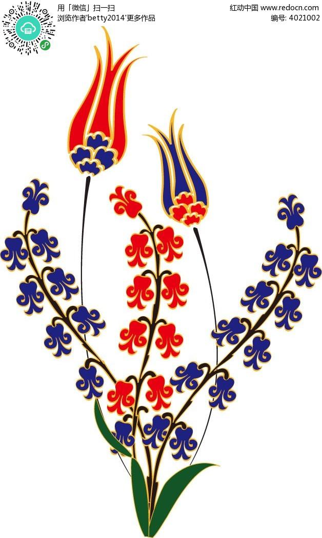 手绘风铃花