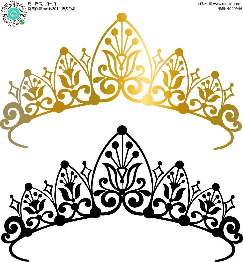 手绘皇冠图案边框