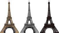 手绘线条巴黎铁塔