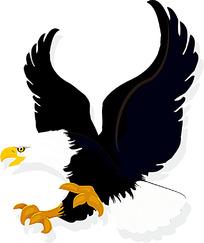 威武的老鹰卡通时尚矢量动物插画