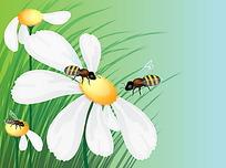采花蜜的蜜蜂时尚漫画