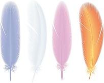 彩色的羽毛时尚漫画