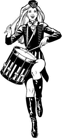打鼓的女孩子韩国紧身-美女矢量图|女人矢量图打底美女图片裤插画黑色图片