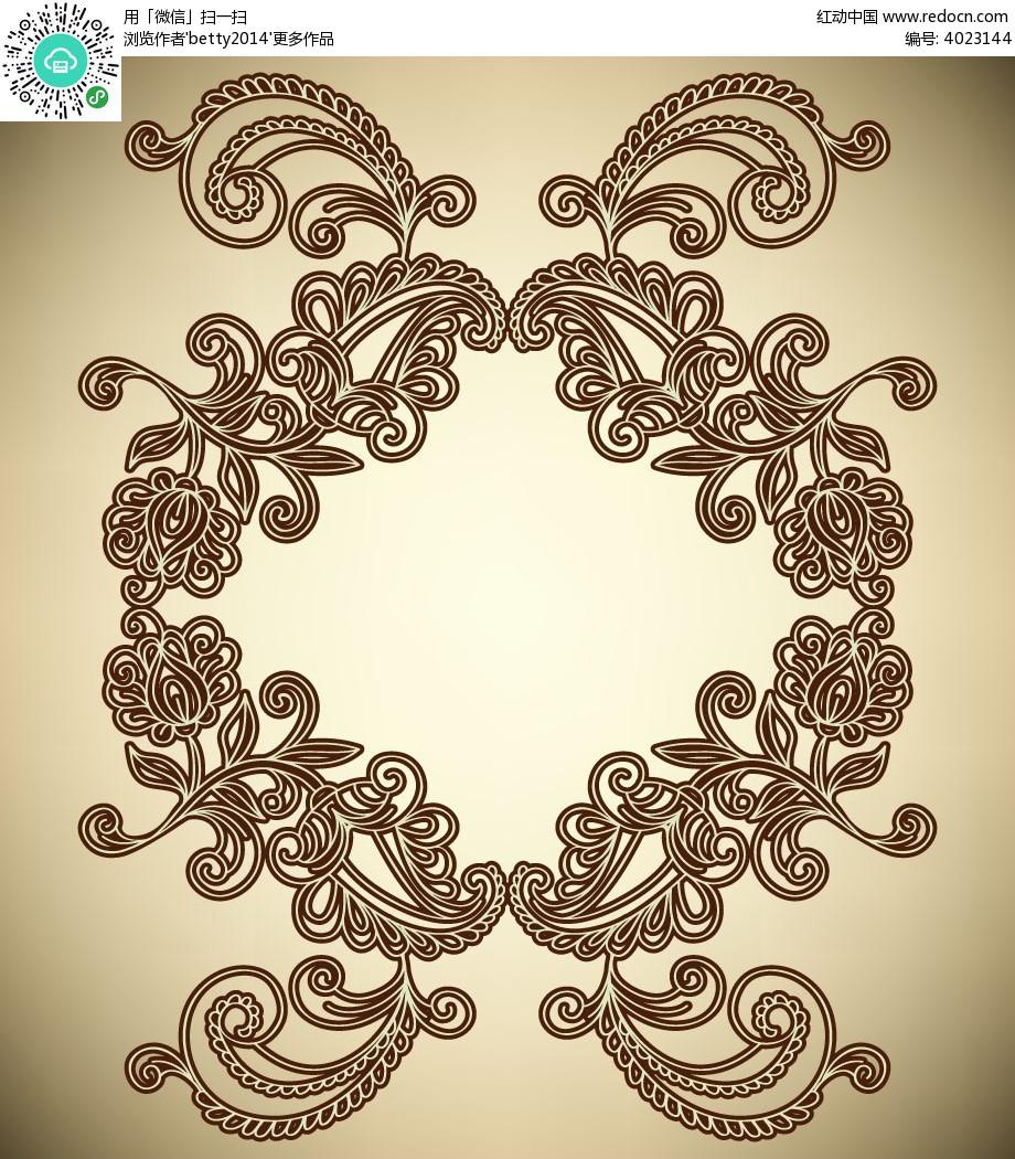 古典线条花纹边框