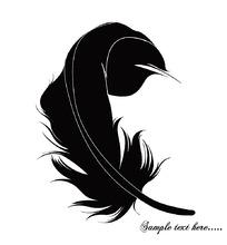 黑色的羽毛时尚漫画