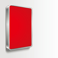 红色广告牌时尚插画