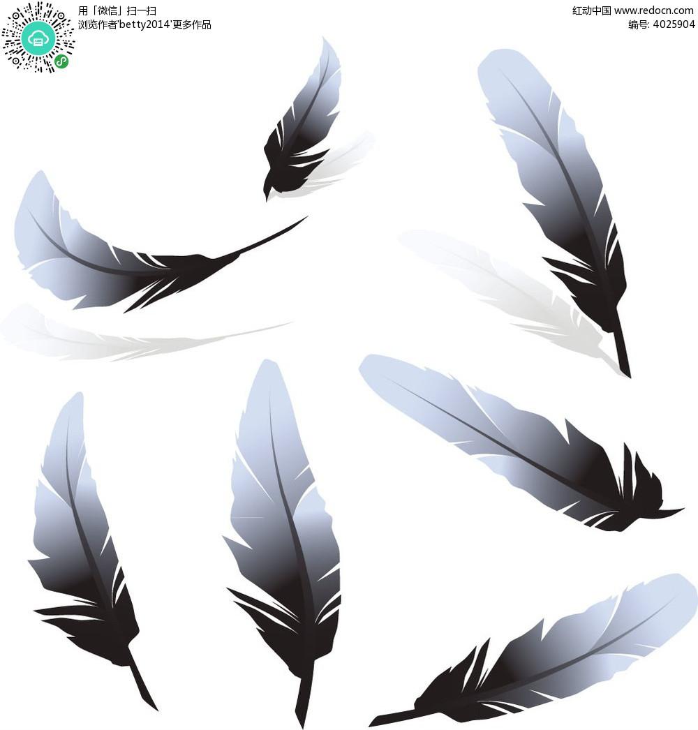 羽毛服装手绘效果图