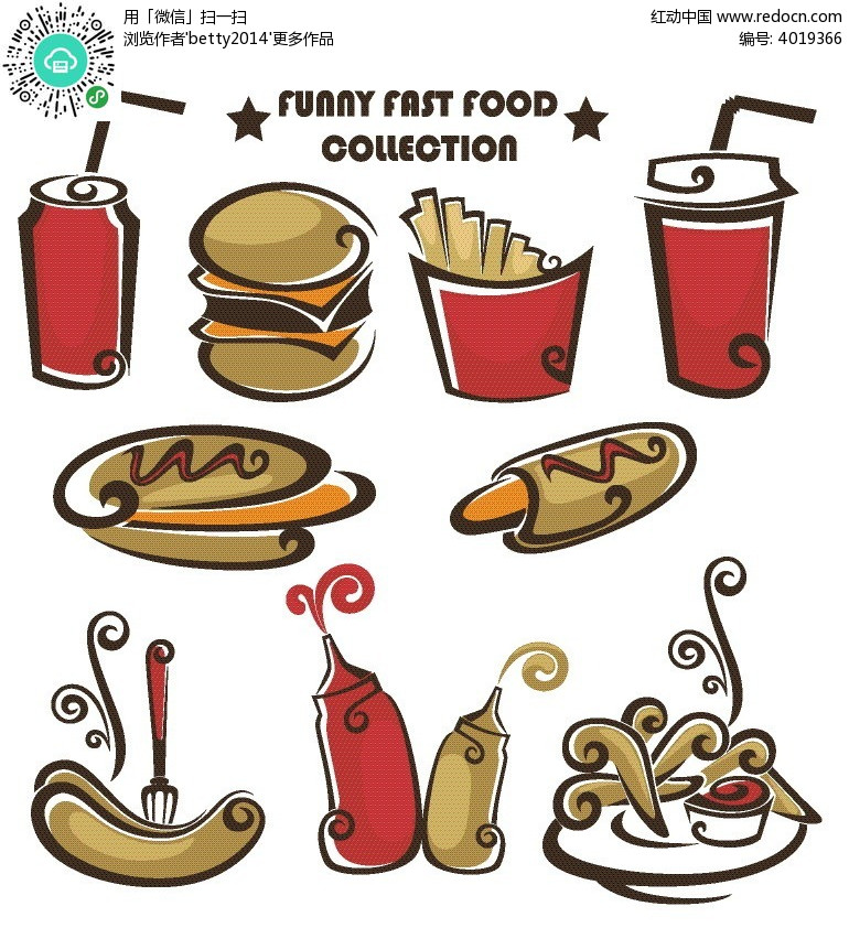 免费素材 矢量素材 花纹边框 花纹花边 食物插画插画  请您分享: 红动