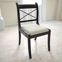 3D椅子模型效果图max