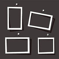 白色简洁方形相框