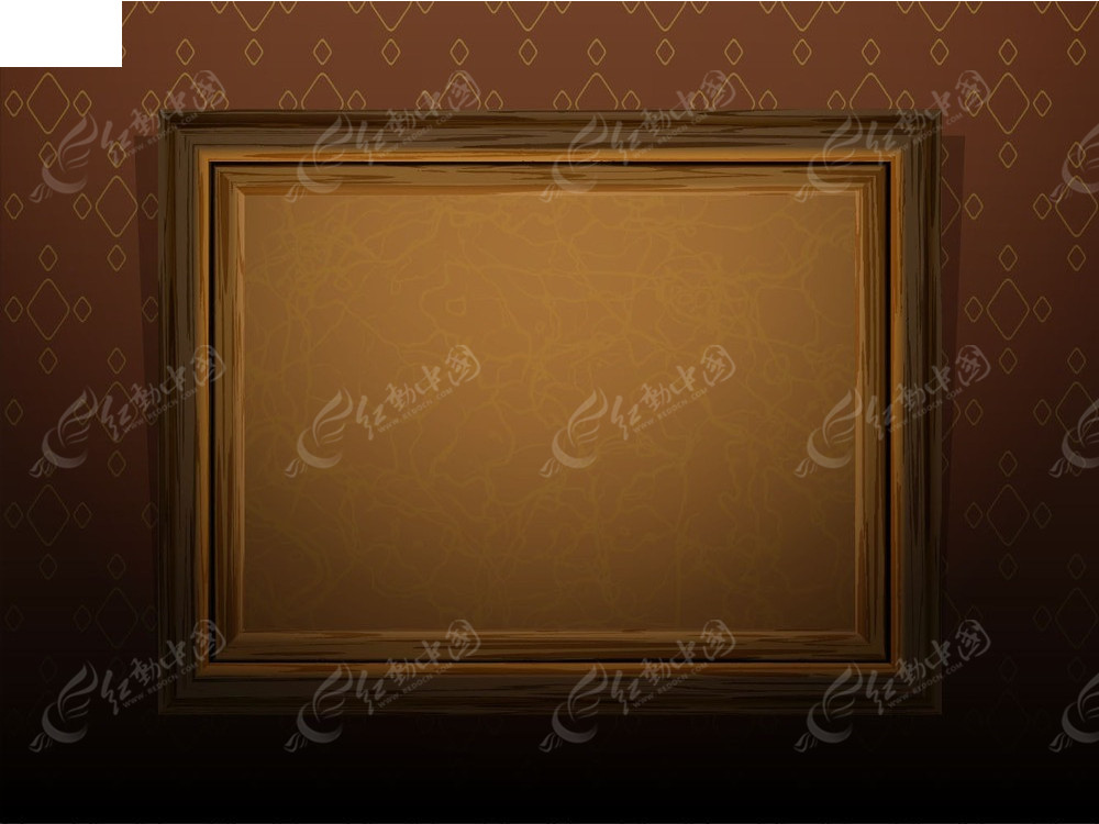矢量古典木纹画框
