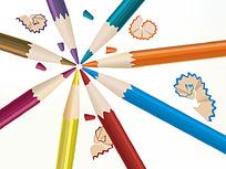 彩色铅笔矢量素材