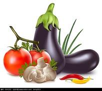 超写实的蔬菜矢量