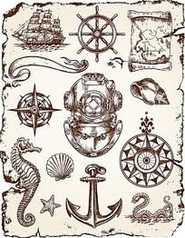 航海相关矢量素材