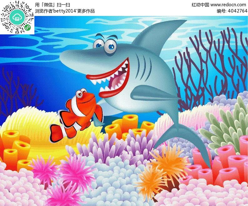 动物 动物图片 多姿多彩 多姿多彩海底 海底世界 鲸鱼 卡通海洋生物