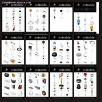 灯具3D模型素材3ds
