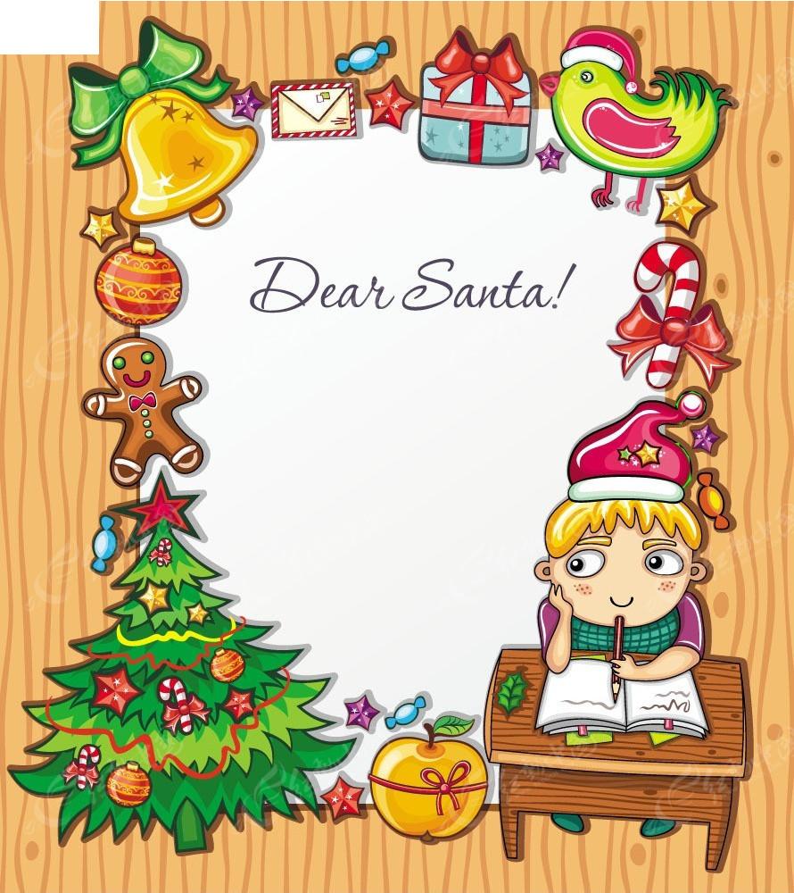圣诞节图文攻略圣诞节素材边框贺卡3龙斗勇者恶图片
