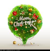 圣诞字体团树叶设计诞节装饰矢量-圣诞节素材设计霍思、图片