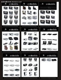 3D电脑数码产品和音响素材模型3ds