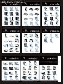 3D家电模型素材集合3ds