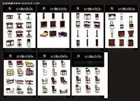 3D桌椅柜子家具模型素材集合max