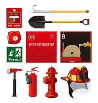 消防器材工具矢量素材
