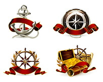 航海主题图形矢量素材