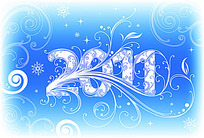 2011蓝色底纹数字素材ai