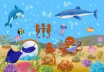 色彩斑斓的各类海底生物