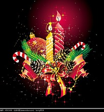 喜庆星光背景圣诞节卡片