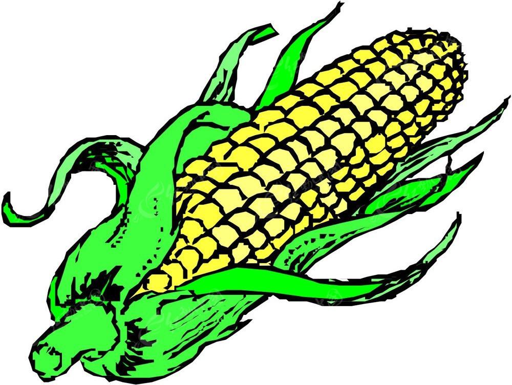玉米手绘立体图形