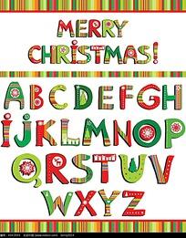 创意圣诞英文字设计